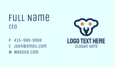 Monkey Face Wrench Business Card