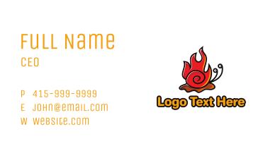 Hot Snail Mascot Business Card