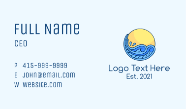 Tropical Beach Splash  Business Card