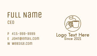 Hand Hot Drink Business Card