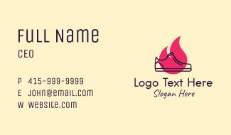 Fiery Monoline Sneakers Business Card