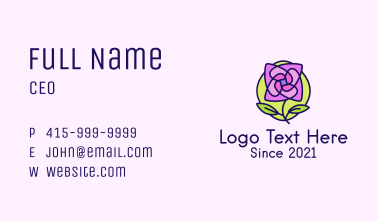 Abstract Blooming Flower Plant Business Card