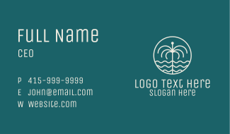 Tropical Water Fountain Business Card