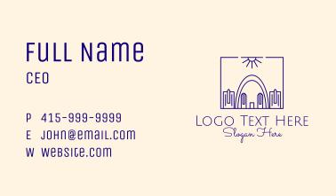 Gateway Arch Monoline  Business Card