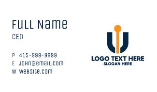 Antenna Letter U Business Card