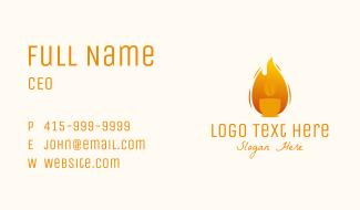 Coffee Roaster Fire Business Card