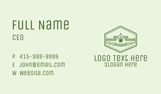 Green Monoline  Plane Business Card