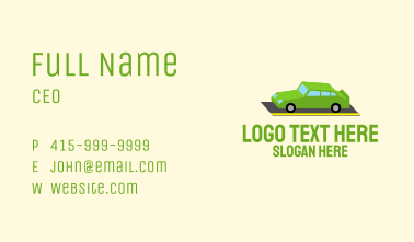 Isometric Sports Car Business Card