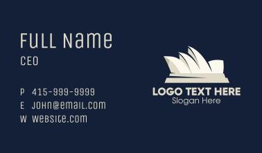 White Sydney Opera House Harbor Landmark Business Card