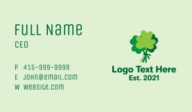Green Shamrock Bundle  Business Card