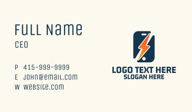 Lightning Smartphone Business Card
