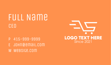 Letter S Shopping Cart Business Card