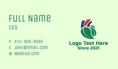 Organic Heart Leaf Business Card