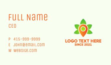 Pin Cannabis Leaf  Business Card