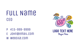 Colorful Bird Business Card