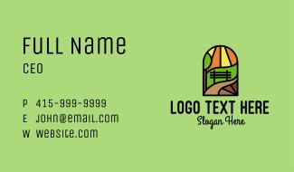 Park Bench Mosaic  Business Card