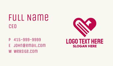 Pink Heart Books Business Card