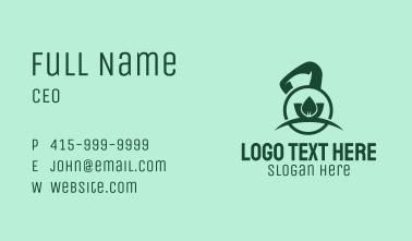 Kettlebell Leaf  Business Card