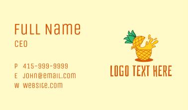 Pineapple Juice Drink Business Card