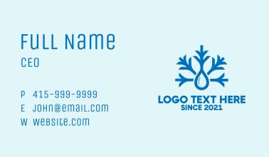 Blue Snowflake Drop  Business Card