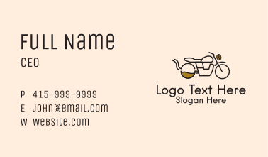 Coffee Delivery Motorcycle Business Card