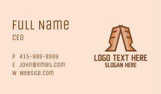 Brown Bread Letter A Business Card