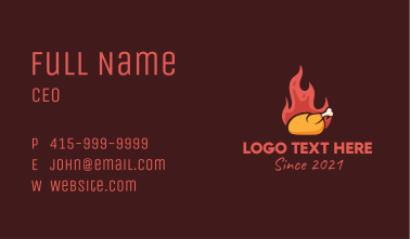 Hot Roasted Chicken  Business Card