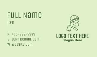 Old Man Lumberjack Business Card