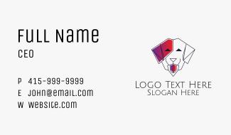 Dog Line Art Veterinary Business Card