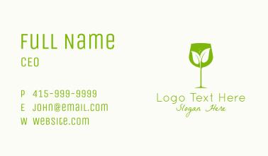 Leaf Wine Glass Business Card