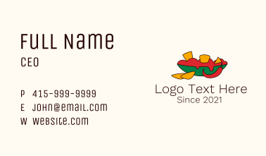 Spicy Tortilla Chips Business Card