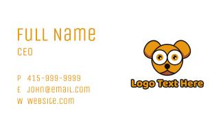 Orange Baby Bear Business Card