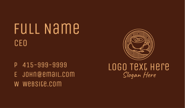 Lovely Serving Coffee Cup Business Card
