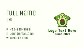 Cute Avocado Mascot Business Card