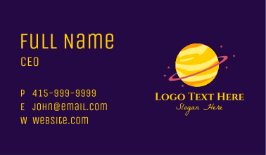 Cosmic Planet Saturn Business Card