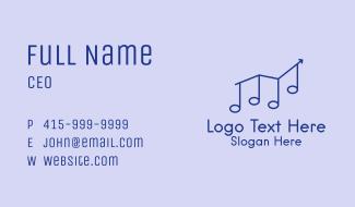 Music Chart Arrow Business Card