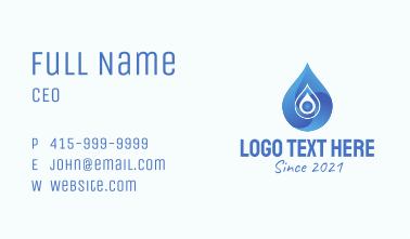 Blue Gradient Droplet  Business Card