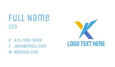 Futuristic X Business Card