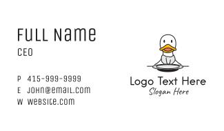 Duck Restaurant Diner Business Card