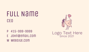 Stork Bird Newborn Baby Business Card