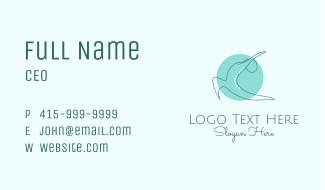 Yoga Fitness Business Card