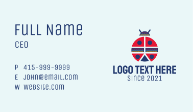 Ethnic Ladybug Pattern Business Card