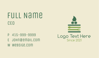Green Nutrition Meal Business Card
