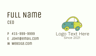 Multicolor Toy Car Business Card