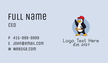 Maintenance Penguin Mascot Business Card