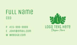Tropical Leaf Droplet Business Card
