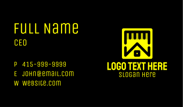 Home Builder Contractor Business Card