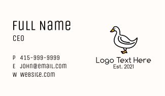 White Goose Bird Business Card