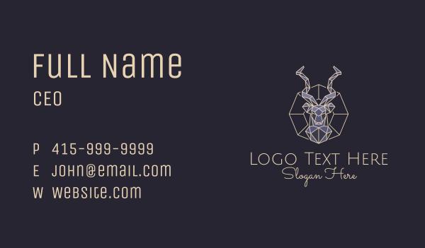 bust - Geometric Antelope Bust Business card horizontal design