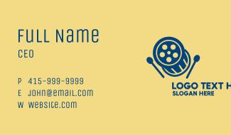 Cinema Reel Drum  Business Card